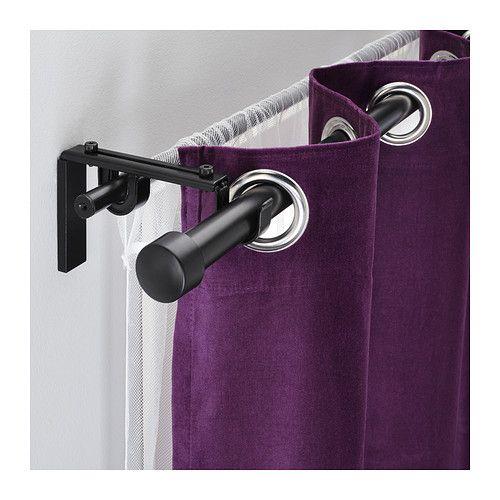 Racka Hugad Double Curtain Rod Combination Ikea Double Rod