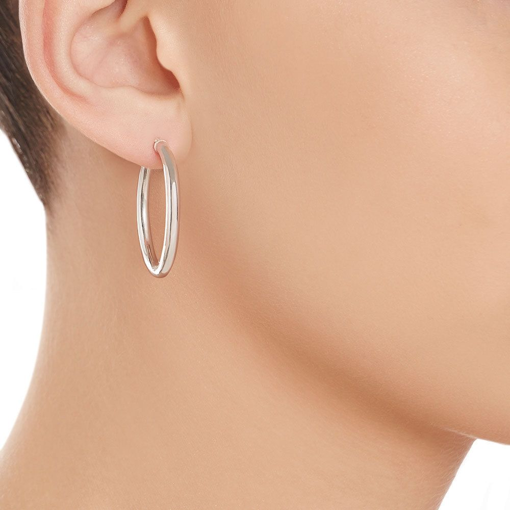 jewellery product stylish hoops hoop earrings silver double