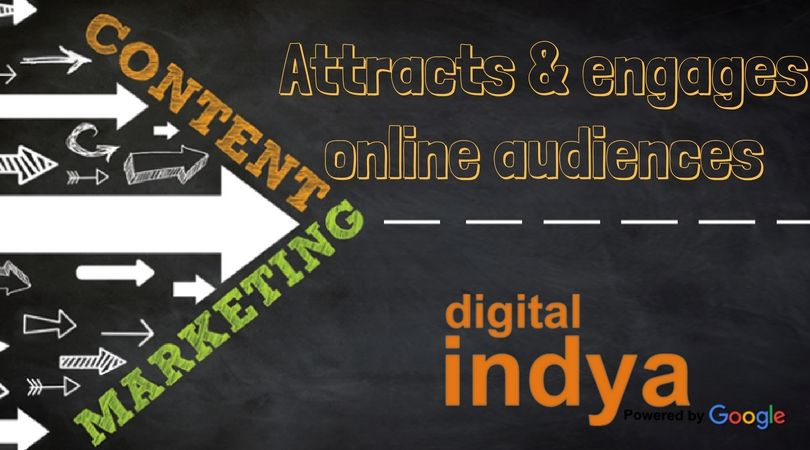Content marketing at @digitalindya  is is a marketing which basically focus on creating, publishing and distributing content for online audience.