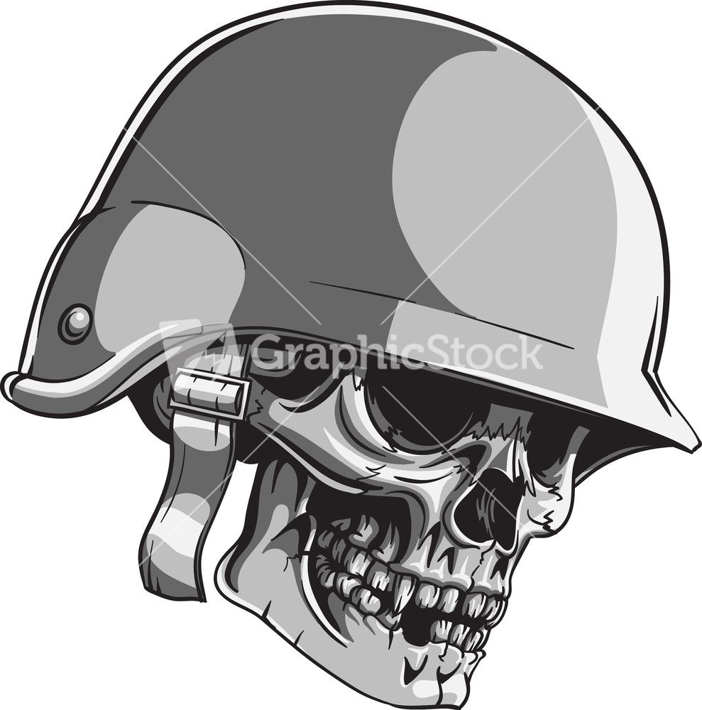 Skull vector element with soldier helmet stock image skull helmet helmet tattoo soldier helmet