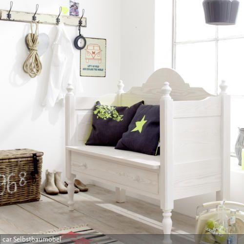 wei e sitzbank mit schublade sitzbank garderobe pinterest sitzbank b nke und auto m bel. Black Bedroom Furniture Sets. Home Design Ideas