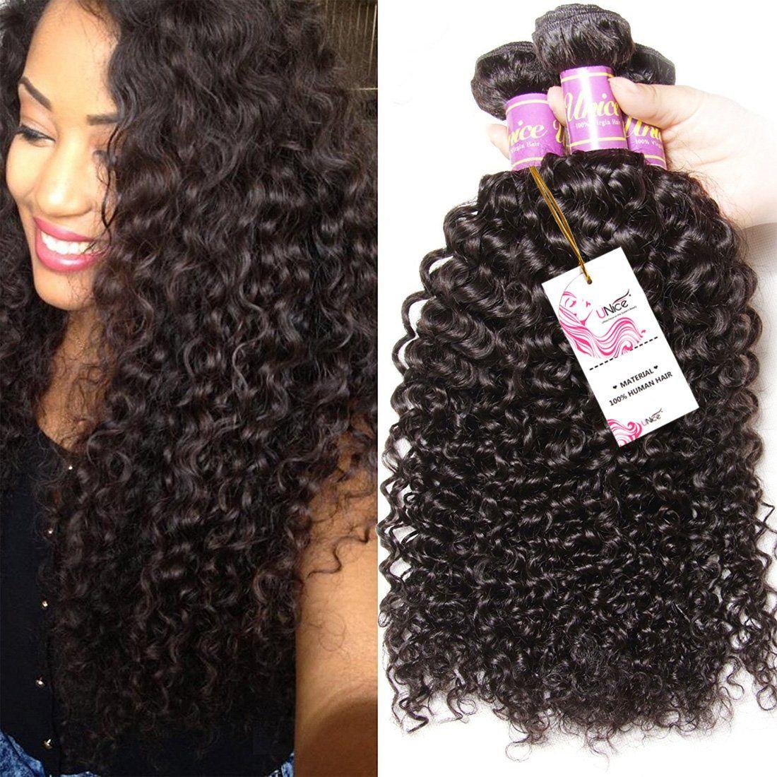 3 Bundles Brazilian Curly Virgin Hair Weave Unprocessed Human Hair
