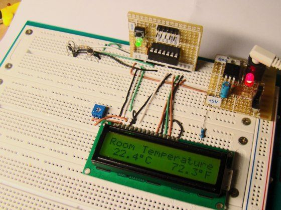 Thermometer Using 8051