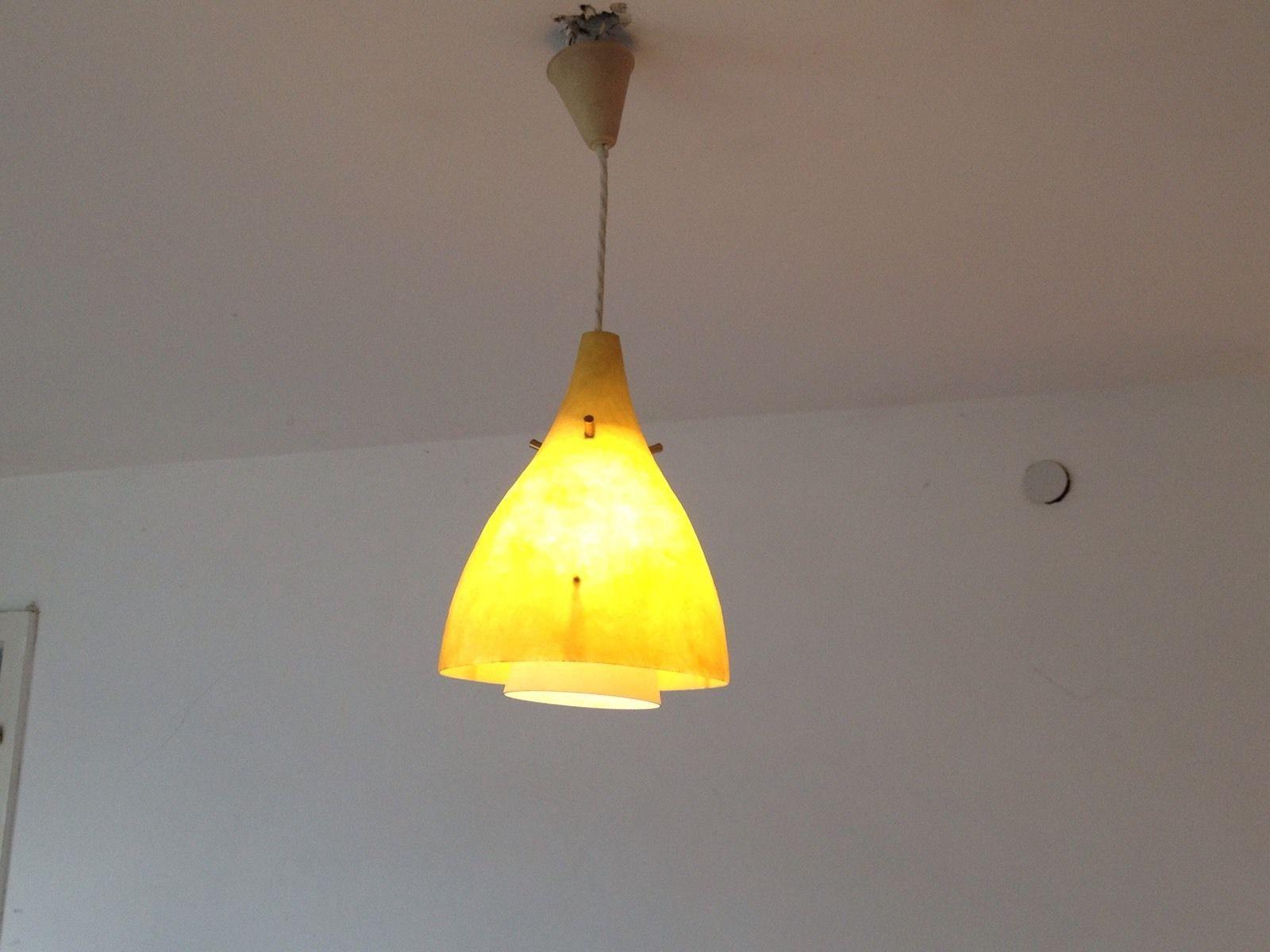 Badezimmerlampe Decke ~ 1 of 4: 50er jahre decken lampe mit glasfaser schirm lights