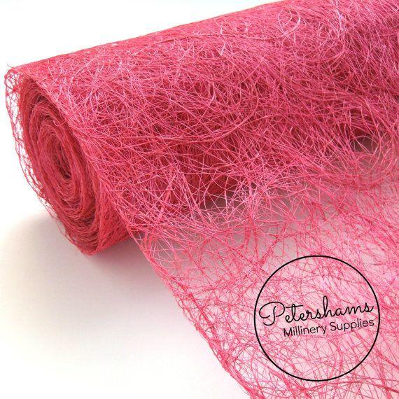 Tangle Tuft Sinamay Fabric 1 2 yard for Millinery   por Petershams ... edf5e946f54