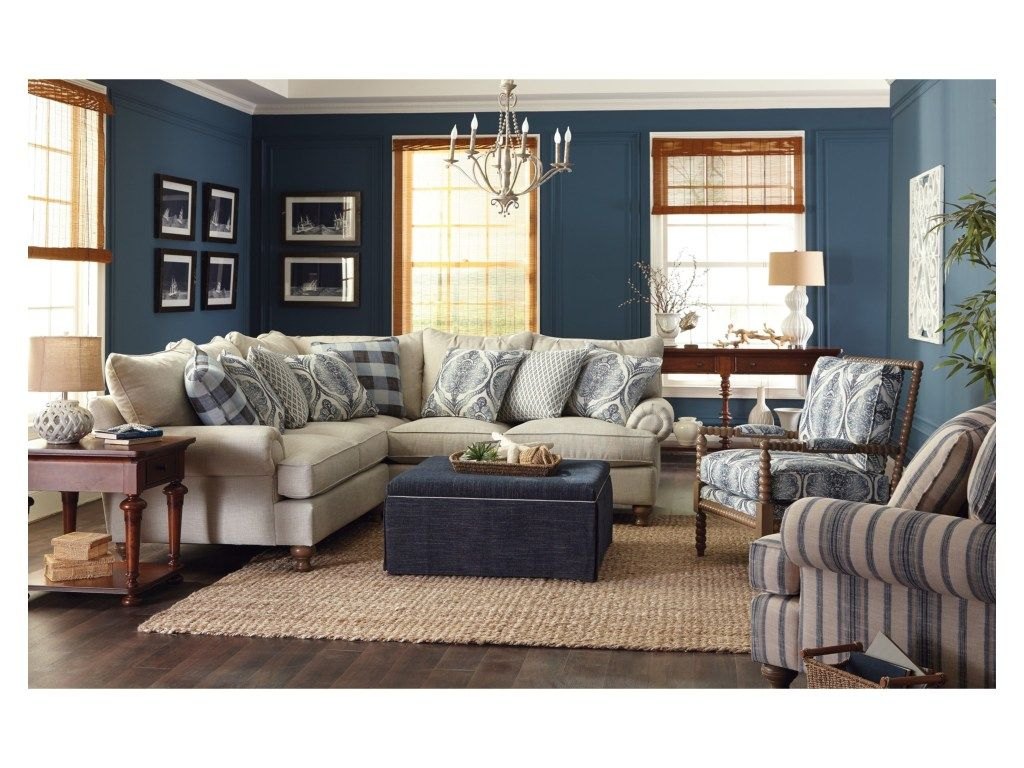 Southern Farmhouse Sectional By Craftmaster. Get Your Southern Farmhouse  Sectional At Plantation Furniture, Richmond TX Furniture Store.