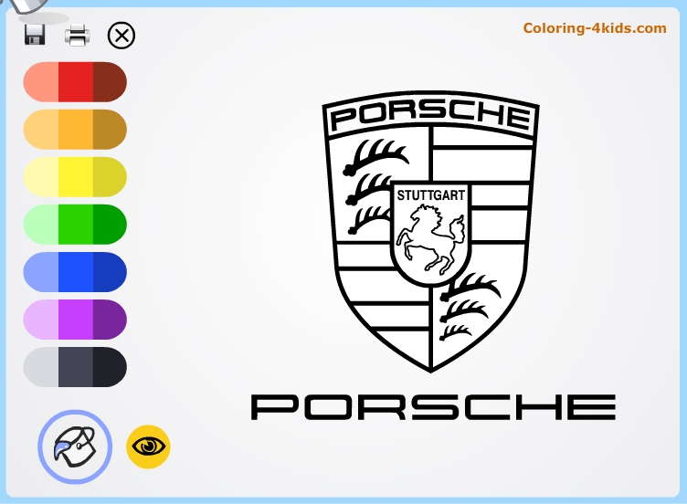 porsche logo coloring pages online cars logos coloring pages coloring car logos. Cars Review. Best American Auto & Cars Review