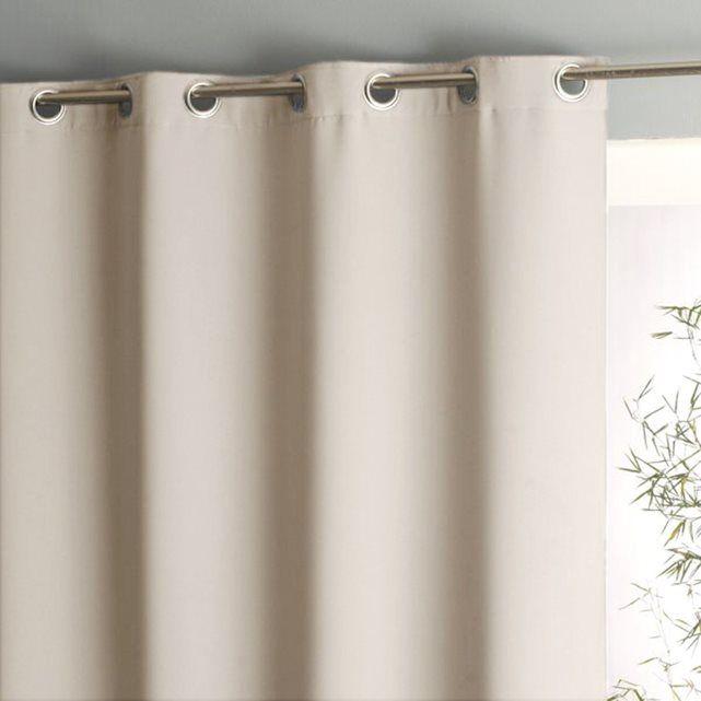 rideau opaque rideau occultant gris blanc vertbaudet. Black Bedroom Furniture Sets. Home Design Ideas