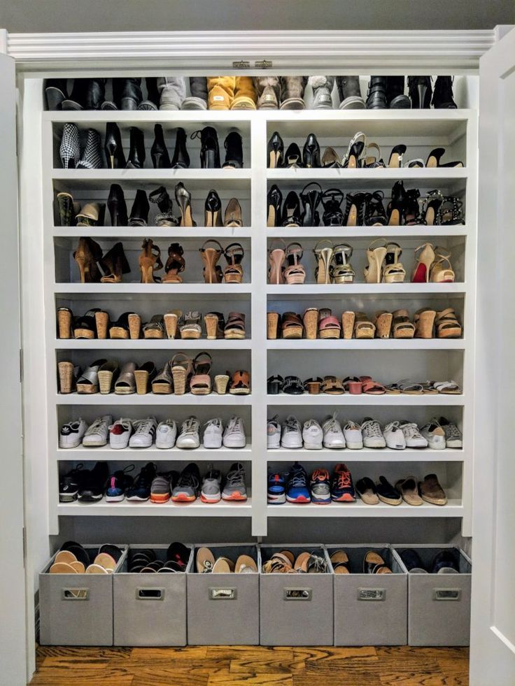 7 Closet Organization Tips You Ve Never Heard Closet Organization Organization Hacks Shoe Wall