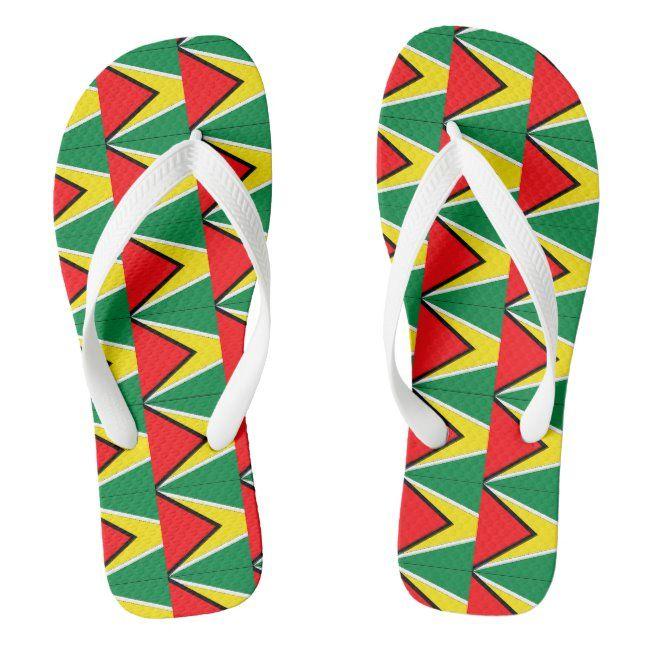Guyana Flip Flops #south #america #south #american #south #FlipFlops #flipflops #footwear #casualfootwear #custom #novelty #sandals #beachwear