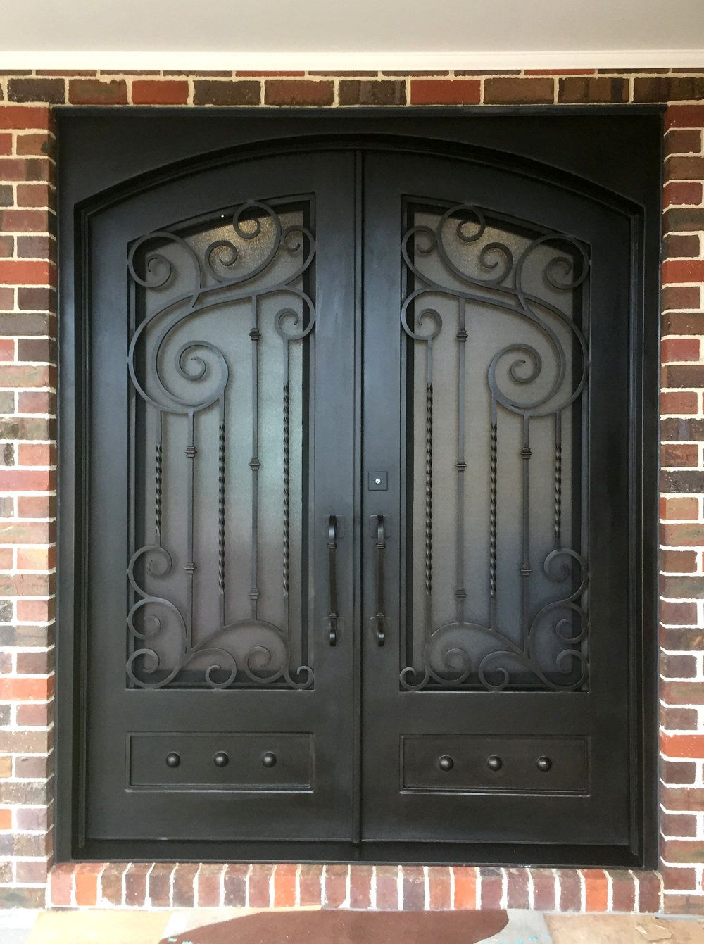 A Unique Wrought Iron Entry Door By Adoore Iron Designs Located In