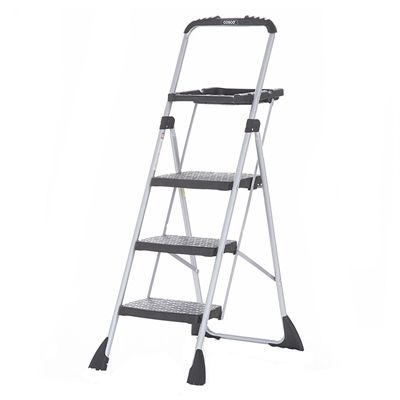 Cosco 3 Step Max Steel Work Platform Ladder Work