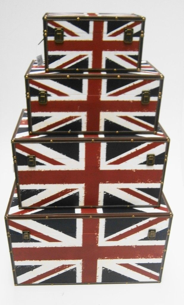 34ca36f354 Details about UNION JACK ENGLAND STRONG WOODEN STORAGE UNIT CHEST ...