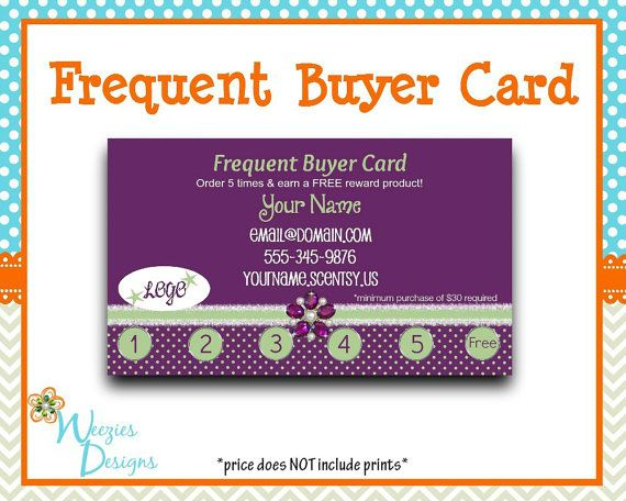 Scentsy Inspired Frequent Buyer Card Business Card Direct Sales Marketing I Printable Unicorn Invitations Printable Birthday Invitations Free Birthday Stuff