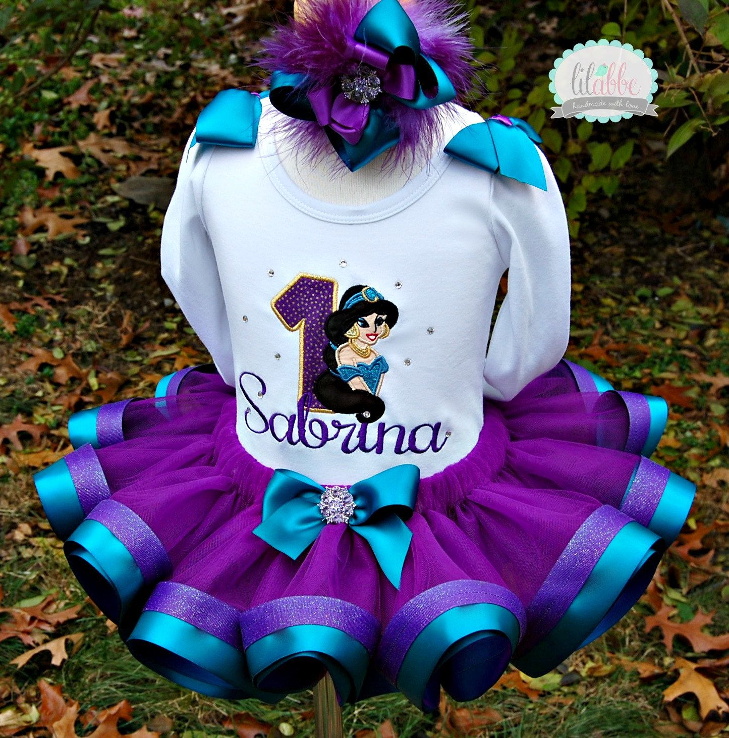 Princess Jasmine Aladdin Theme Birthday Tutu By Lilabbehandmade 6999
