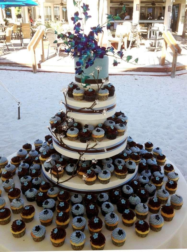Torta con cupcakes | Torta nuziale, Torte nuziali blu, Torte