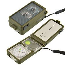 BD/_Military Emergency Survival Whistle Kit Compass Led Light Thermomet,ToolsTFSU
