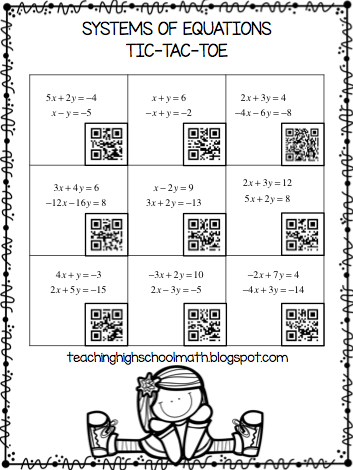 Using QR Codes to Play Tic-Tac-Toe by Teaching High School Math!