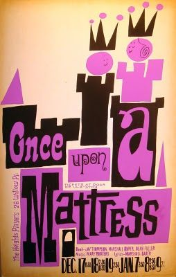 once upon a mattress poster. Once Upon A Mattress By David Klein For The Heights Players Poster
