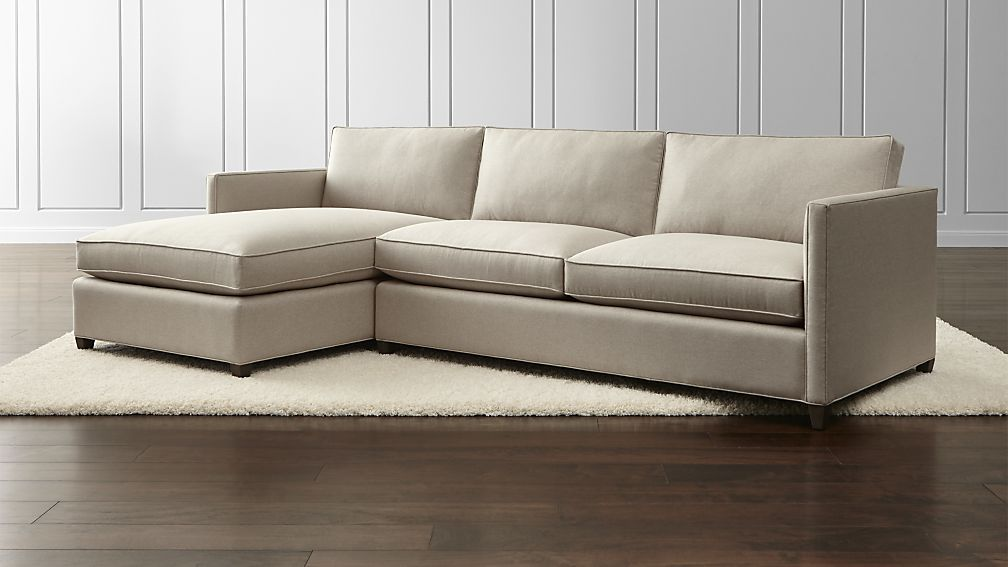 Dryden 2 Piece Sectional Crate And Barrel 110x62x34 Has A Separate Ottoman If Purchase Just Sofa 103 Summer Living Room Decor Summer Living Room Sectional