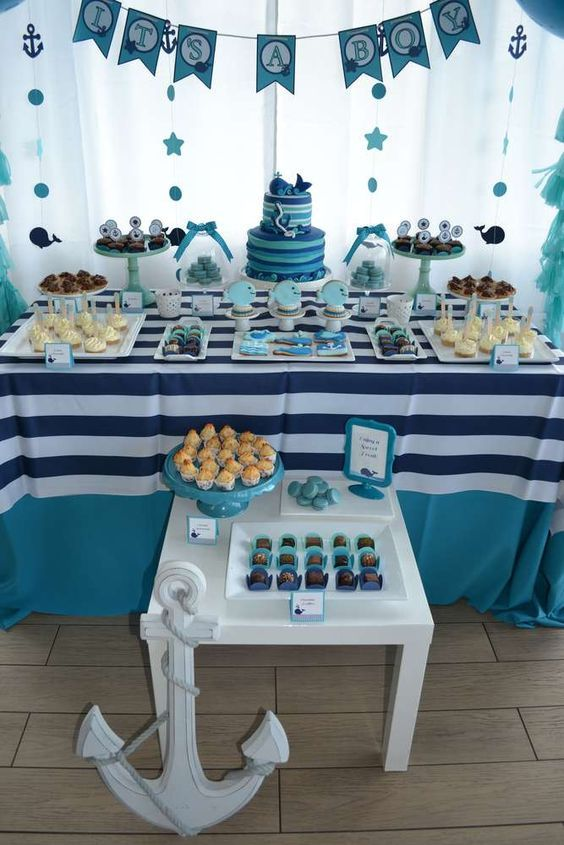 whales baby shower party ideas  baby shower parties, shower party, Baby shower