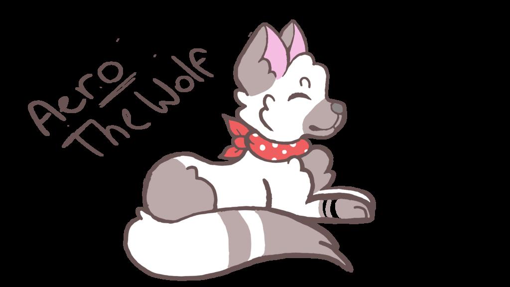 Wolf with a bandana!