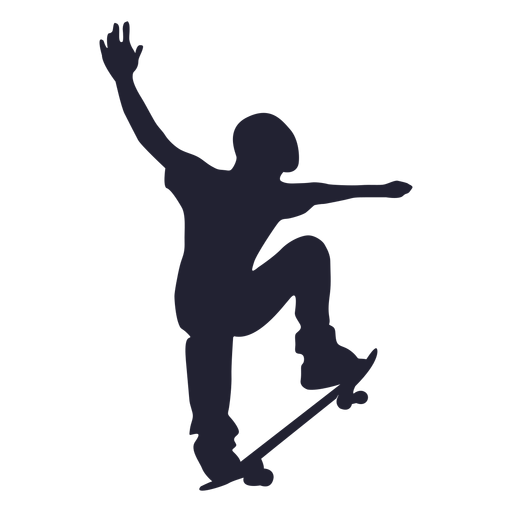 Skateboard Sport Silhouette Png Image Download As Svg Vector Eps Or Psd Get Skateboard Sport Silhouette Silhouette Silhouette Art Material Design Background