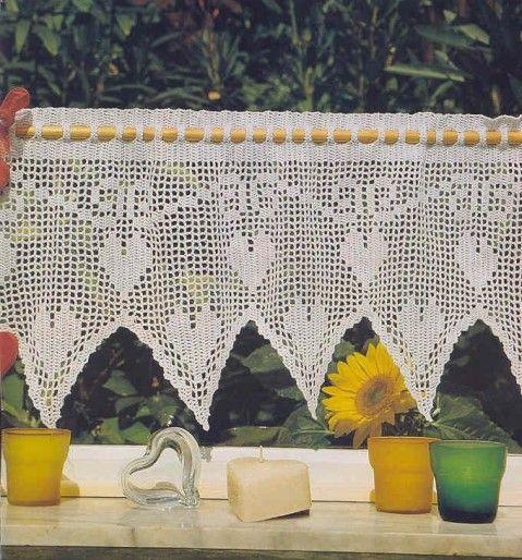 Rideaux et leurs grilles gratuites , au crochet | Grille, Le crochet ...