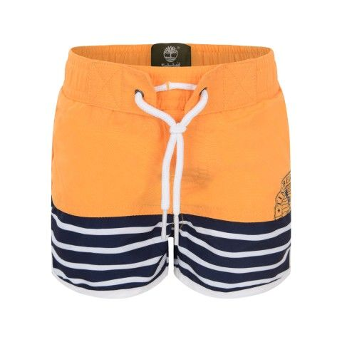 Timberland Boys Yellow & Navy Striped Swimming Shorts