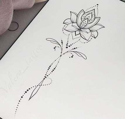 Photo of 30 fleurs à la mode dessin design tatouage lotus mandala – #flowers #design #lotu …