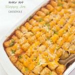 Tater Tot Sloppy Joe Casserole This post may contain affiliate links or sponsored content, please read our Disclosure Policy.October 8, 2015 by Chelsea Leave a Comment