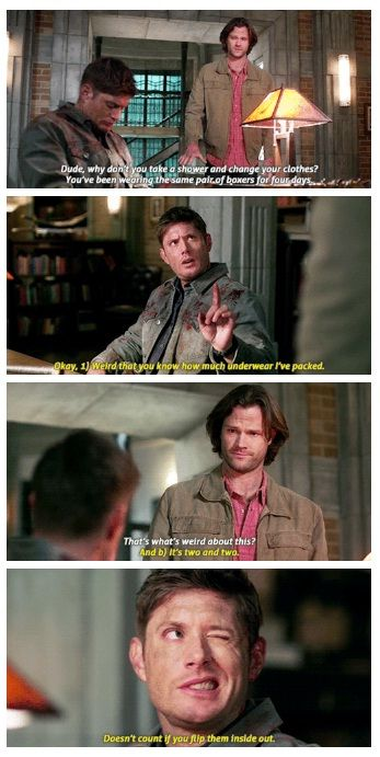 Doesn T Count If You Flip Them Inside Out Dean Winchester Oh