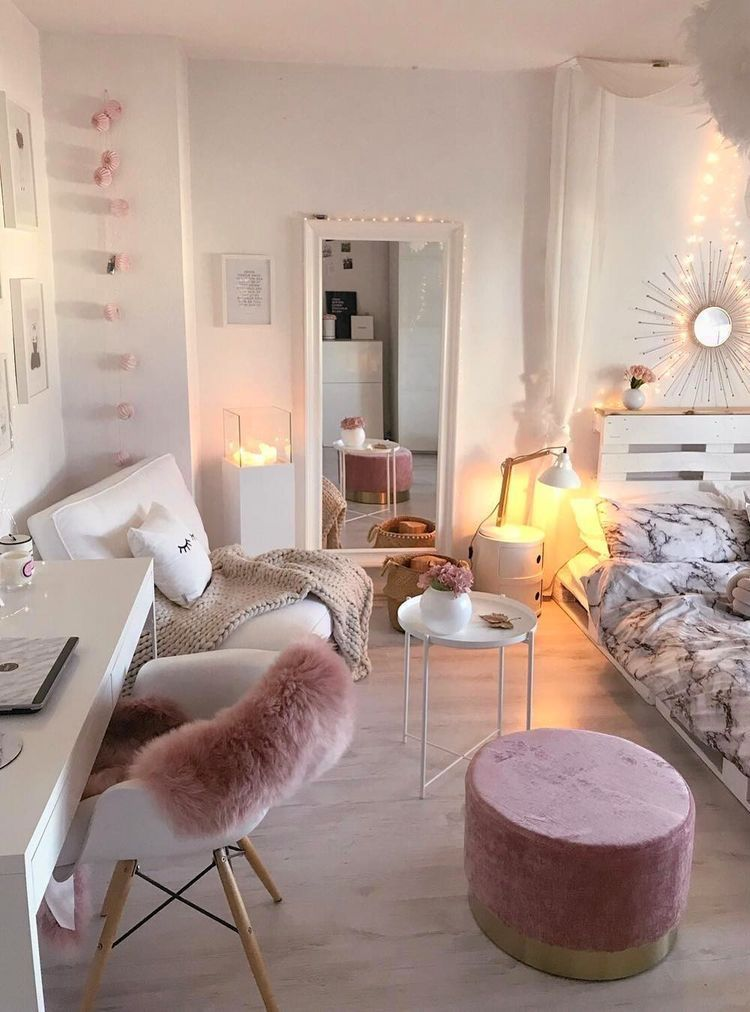 Pink And White Rooms - decorationroomgirl