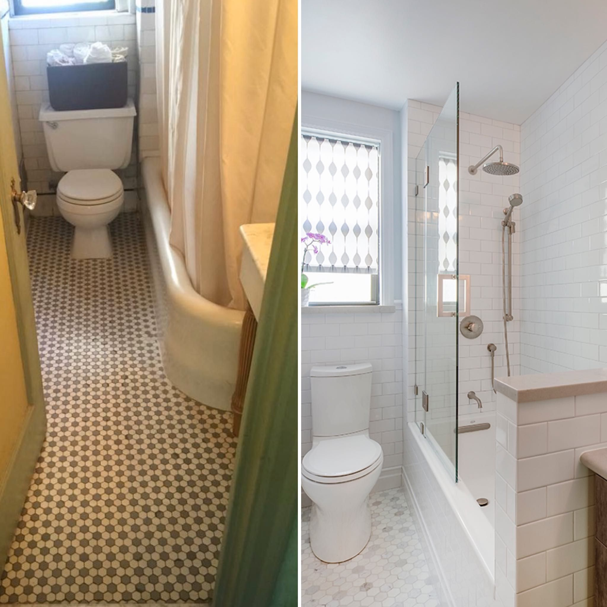 Forget The Throwback We Re Doing Before And After Thursdays What A Transformation From Dark And U In 2020 Bathrooms Remodel Subway Tiles Bathroom Bathroom Renovation
