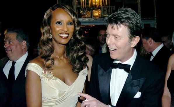 Iman and David Bowie/They have been together forever,.