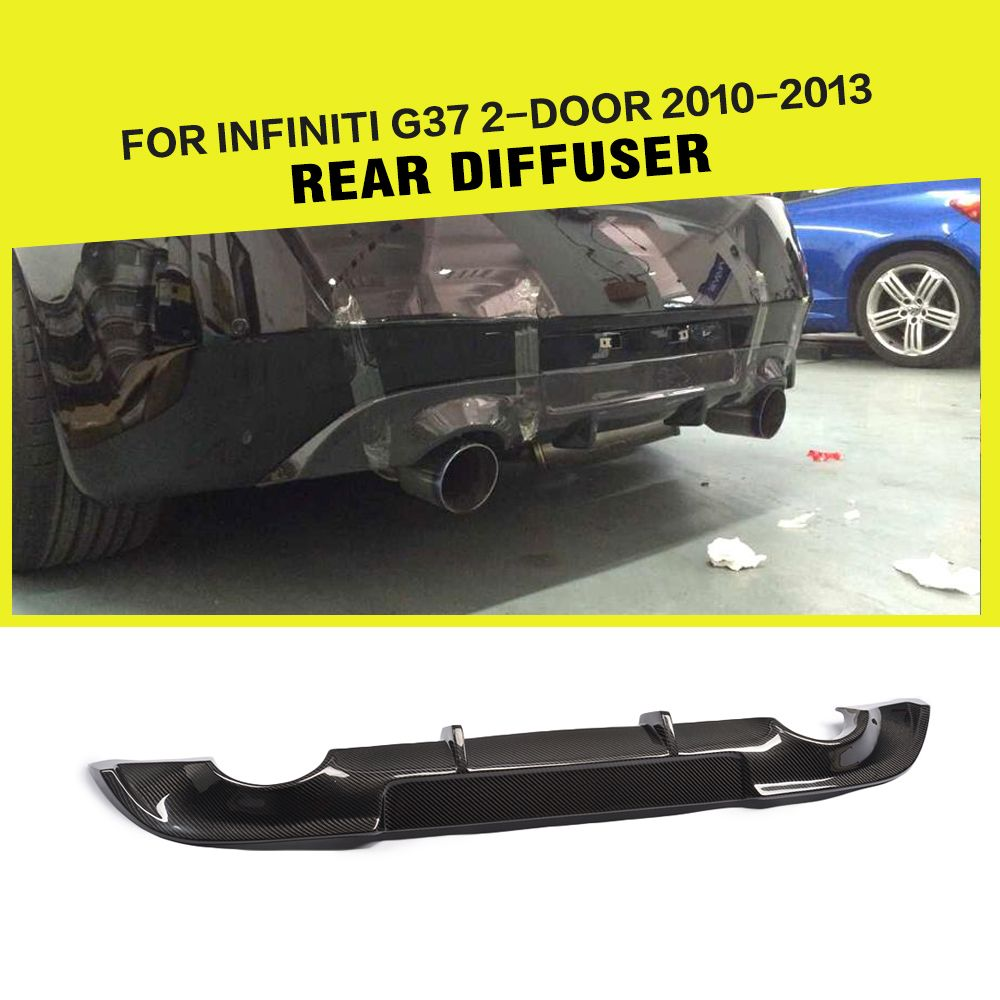 Carbon Fiber Auto Car Rear Bumper Lip Diffuser For