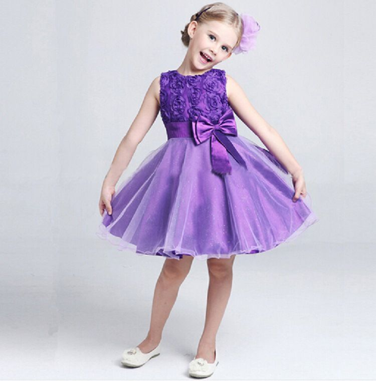 New 2016 Flower Girl Christening Wedding Party Pageant Dress Baby ...