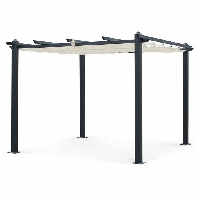 Tente De Jardin Pergola Aluminium 3x3m Condate Toile