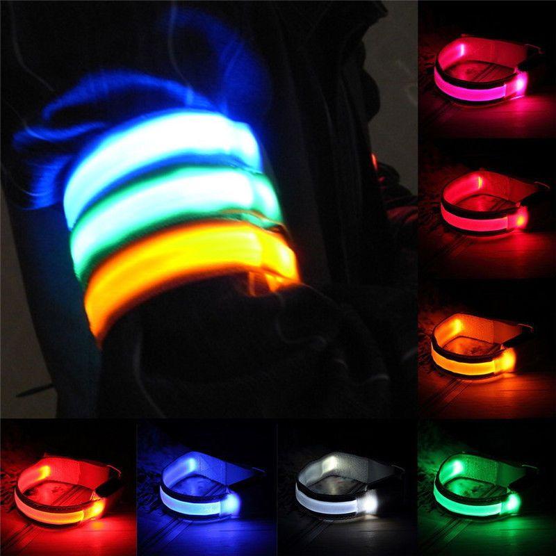 Flashing Safety LED Light Reflective Belt Strap Arm Band Night Running\\\
