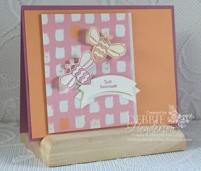 Create with Connie & Mary Challenge #405 using Stampin' Up! Pun Intended, Playful Palette Designer Paper Stack and Clear Wink Of Stella. Debbie Henderson, Debbie's Designs.