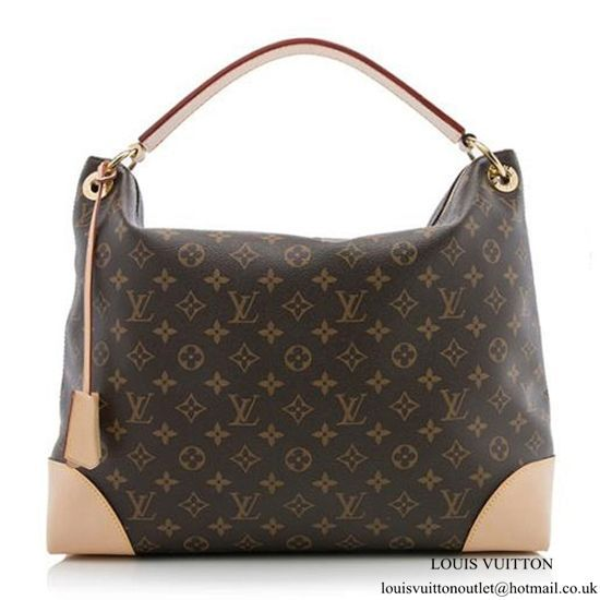 93509dc181fb Louis Vuitton M41625 Berri MM Hobo Bag Monogram Canvas  FendiHandbags