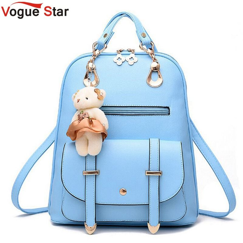 417ed9a15710 Vogue Star New Designer Women Backpack For Teens Girls Preppy Style School Bag  PU Leather Backpacks