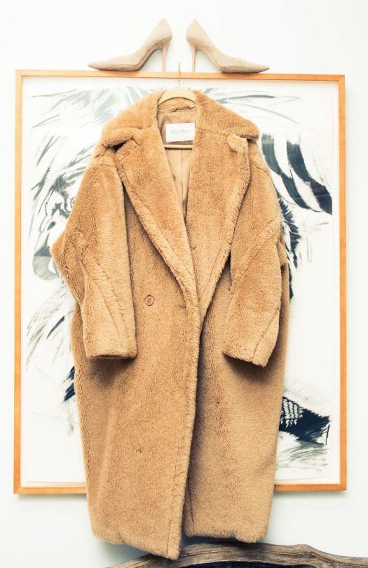 Cool Chic Style Fashion | Teddy Bear Coat, Max Mara Heels, Jimmy Choo