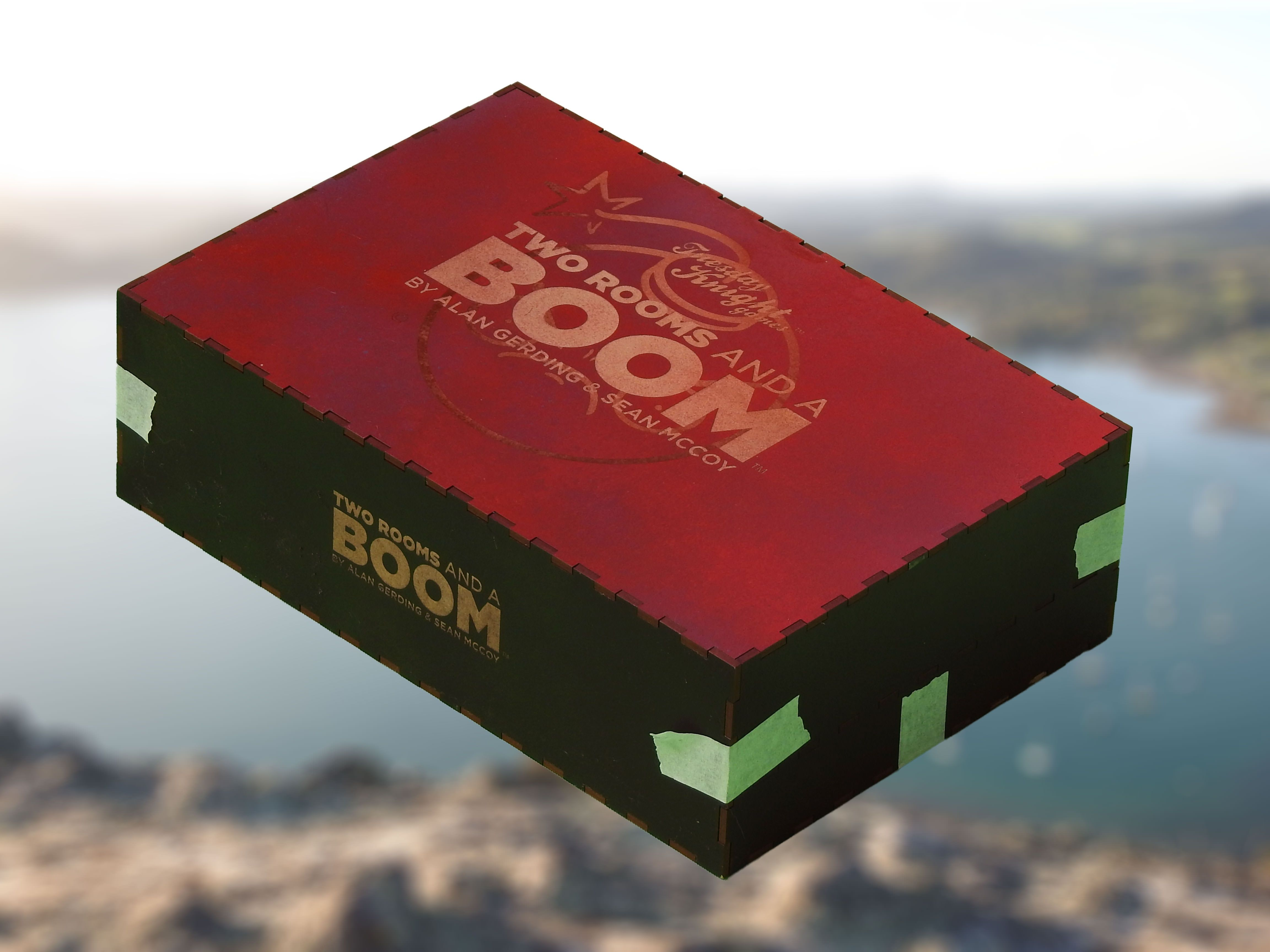 I made a custom version of the Two Rooms and a Boom game