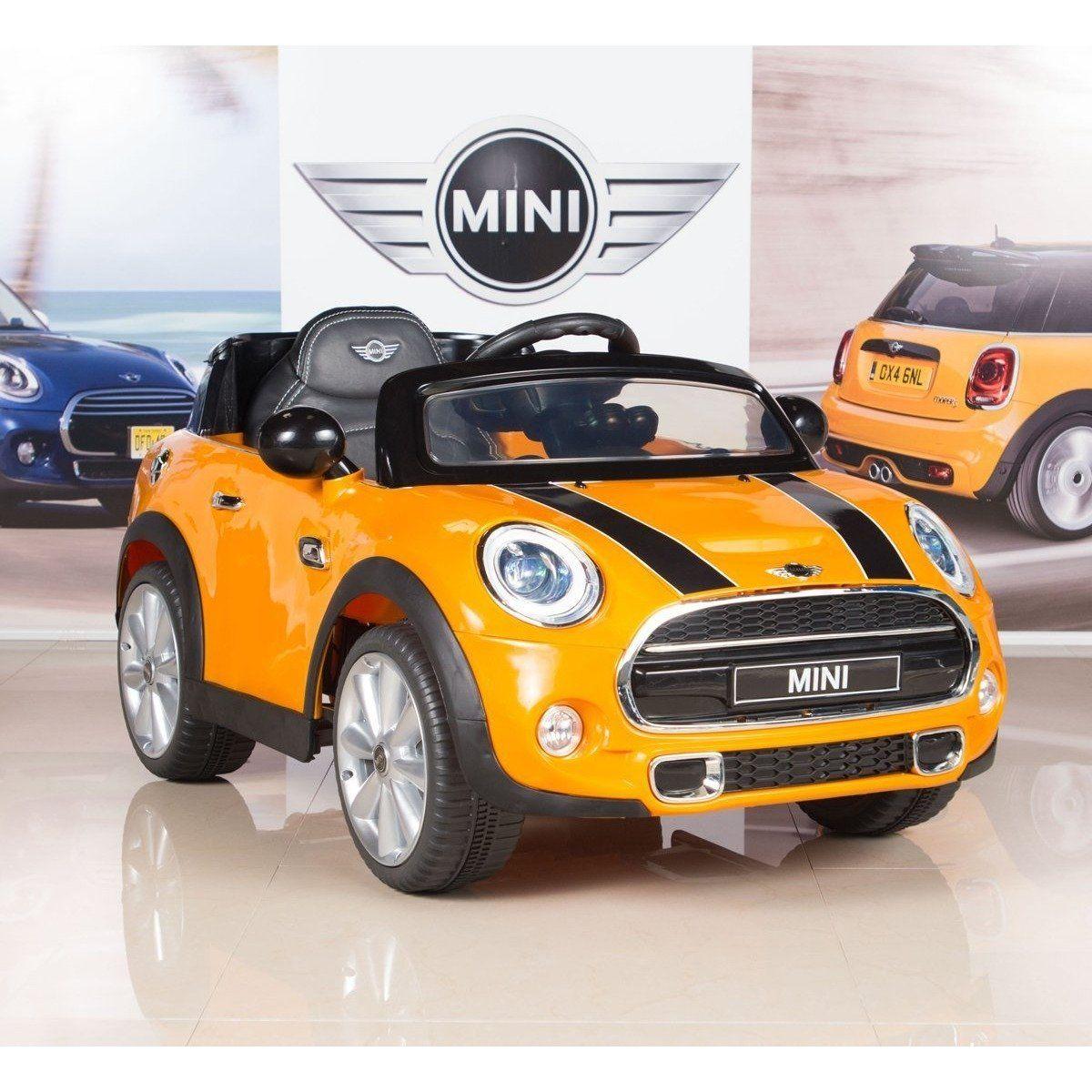 Best Ride On Cars Licensed Mini Cooper V  Orange in