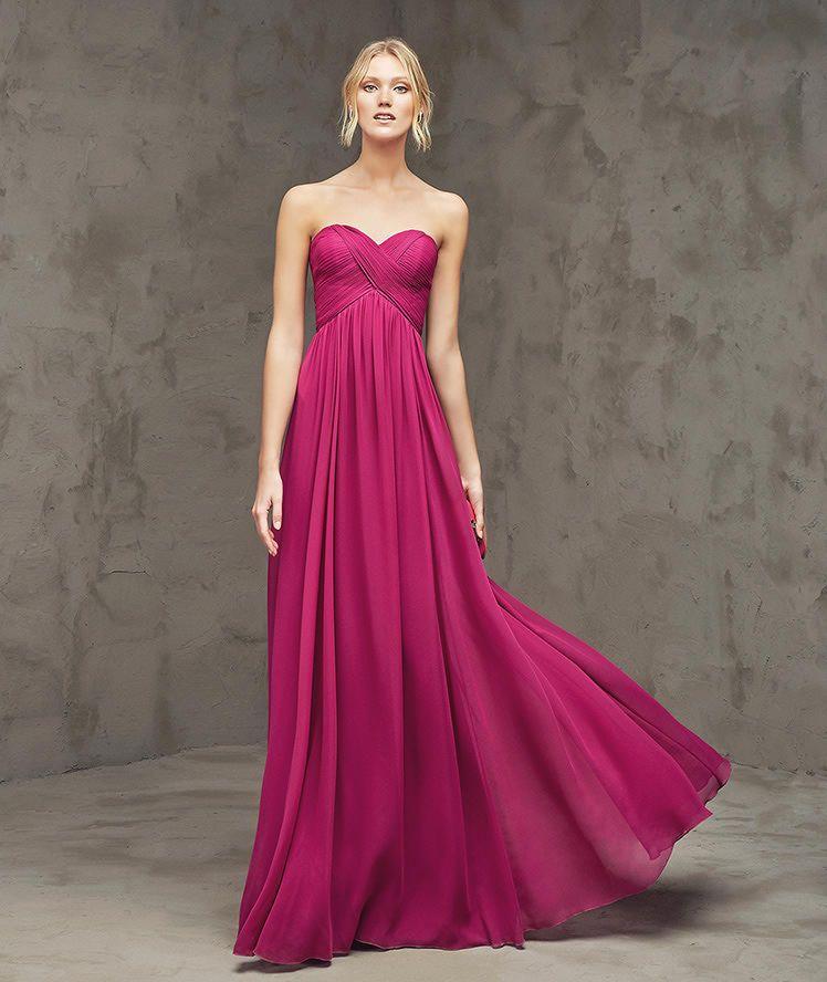 low priced 015c2 2b962 Fionda, abito da cerimonia lungo, con scollatura a cuore ...