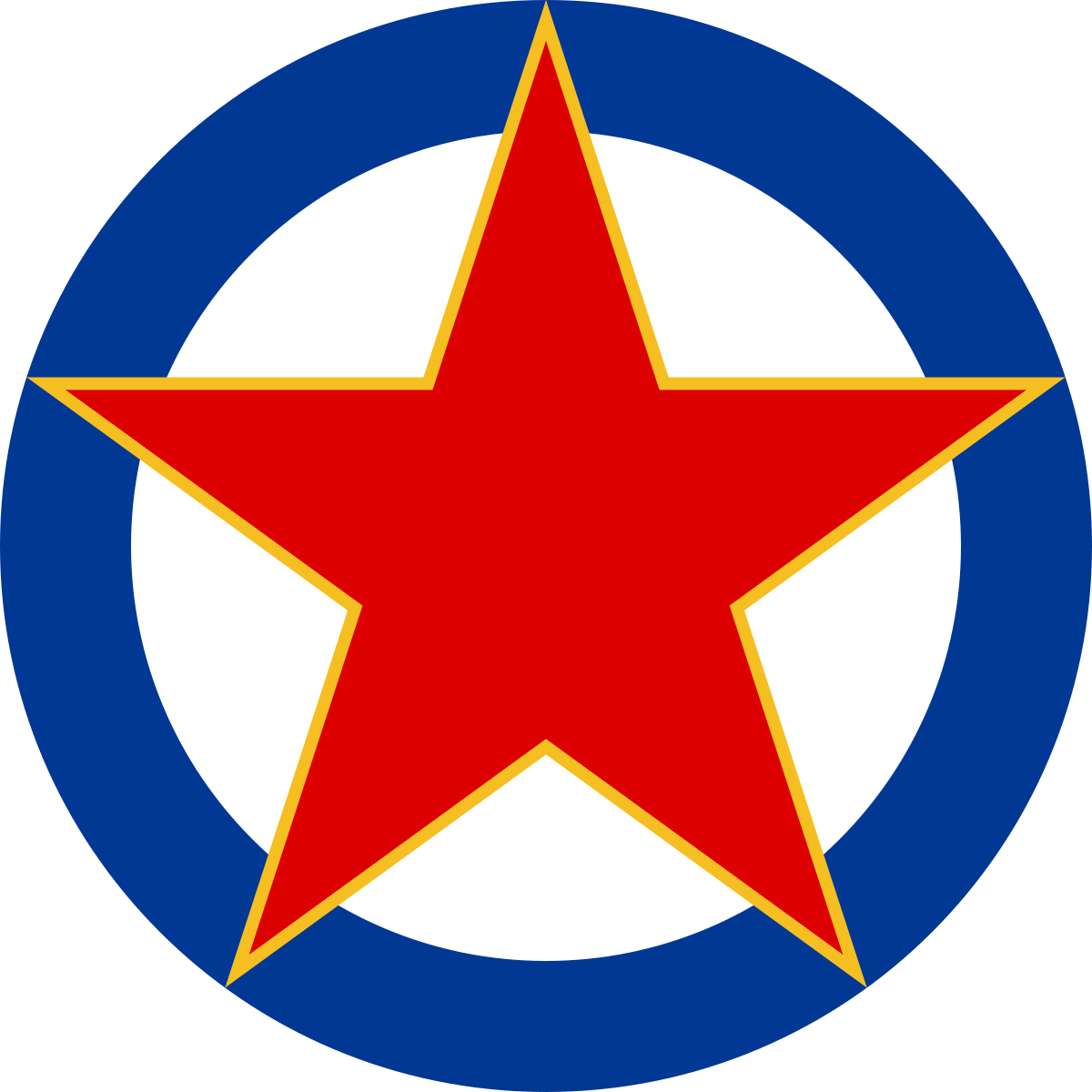 8fd712080 Roundel of SFR Yugoslavia Air Force | Cold War Air Based Military ...