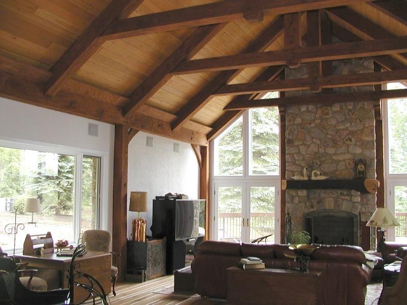 Leiberman Timber Frame Home Timber Frame Homes Timber Framing Timber #picture #frames #in #living #room