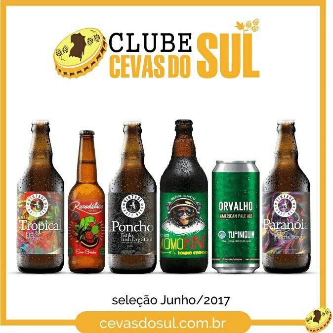 Clube Cevas do Sul de Junho 2017!  No clube Cevas do Sul so tem lançamentos e novidades das cervejarias gaúchas!  www.cevasdosul.com.br