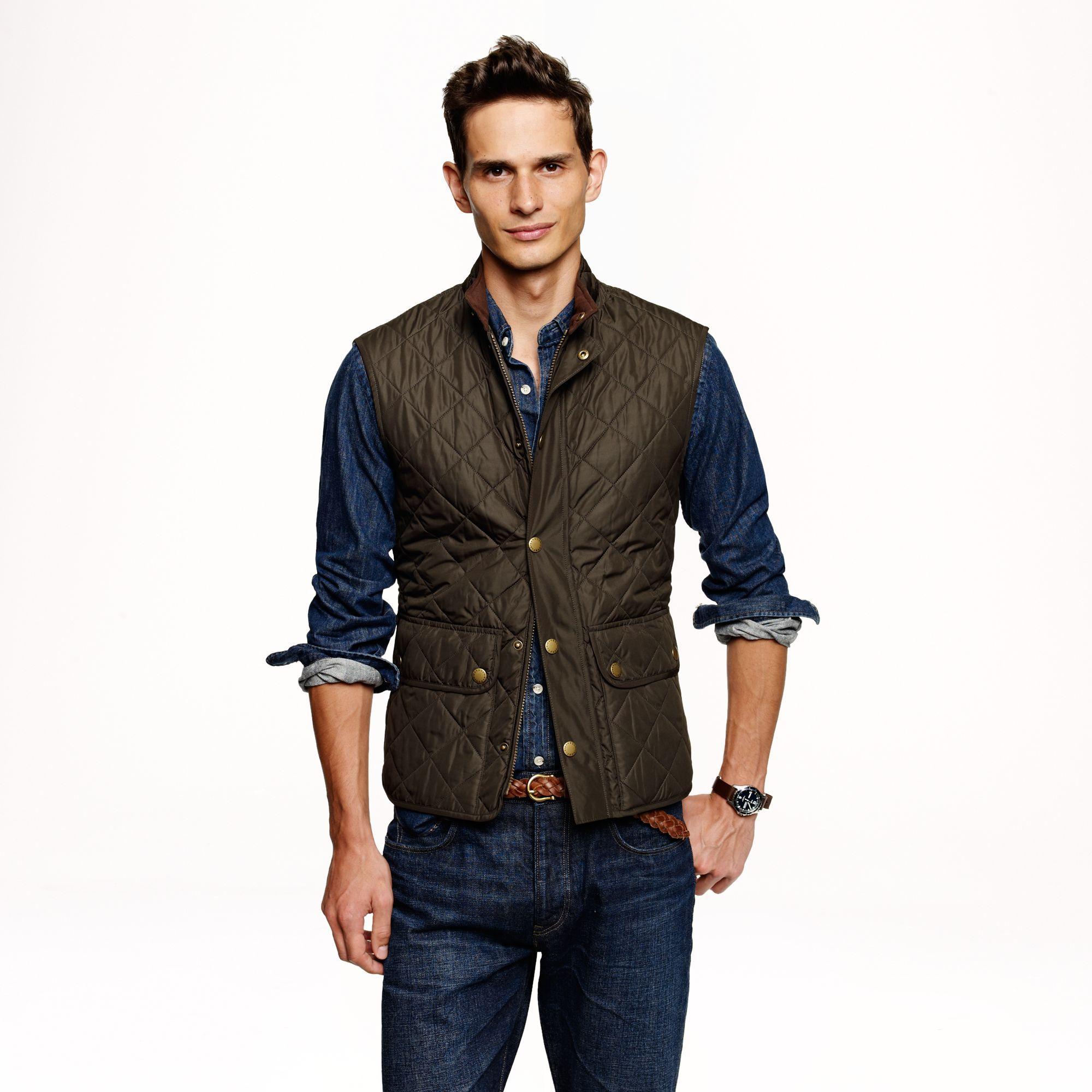 barbour vest mens